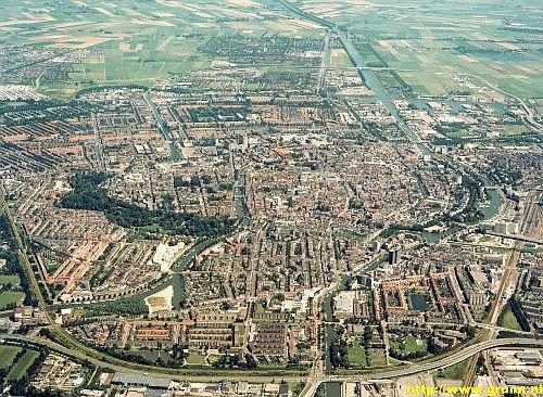 Luchtfoto stad Groningen